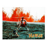 Erupción de Mauna Loa, parque nacional de los volc Tarjeta Postal