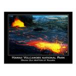 Erupción de Mauna Ulu del volcán de Kilauea en Haw Tarjeta Postal