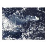 Erupción de Piton de la Fournaise, reunión Isla Cojinete