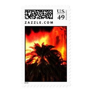 Erupción de sellos del volcán