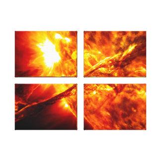 Erupción de Sun - prominencia gigante Lona Envuelta Para Galerías
