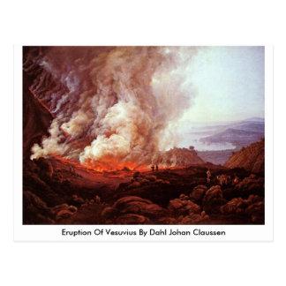 Erupción de Vesuvio de Dahl Johan Claussen Tarjeta Postal