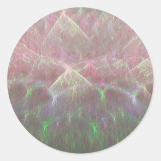 Erupción del cielo del arte del fractal de la pegatina redonda