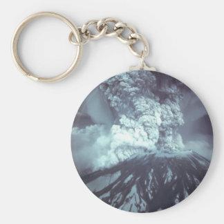 Erupción del Monte Saint Helens Stratovolcano el a Llavero Redondo Tipo Pin