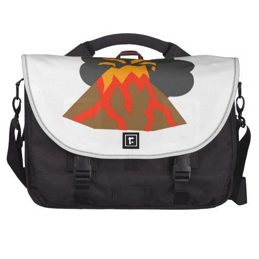 Erupción del volcán bolsas para portatil