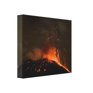 Erupción del volcán de Tungurahua Impresión En Lona Estirada