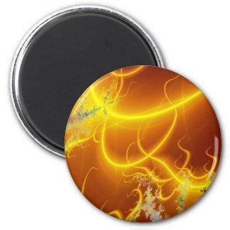 Erupción solar imán redondo 5 cm