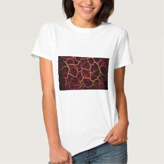 Erupción volcánica agrietada caliente del flujo de camisas