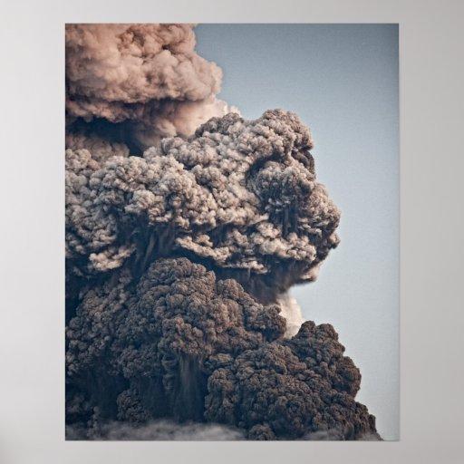 Erupción volcánica de Eyjafjalljokull Póster