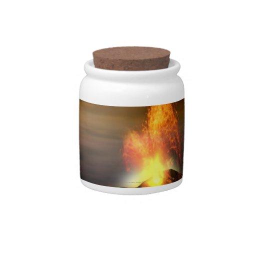 Erupción volcánica en el Io Platos Para Caramelos