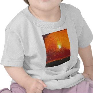 Erupción volcánica camisetas