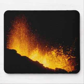 Erupción volcánica tapetes de raton