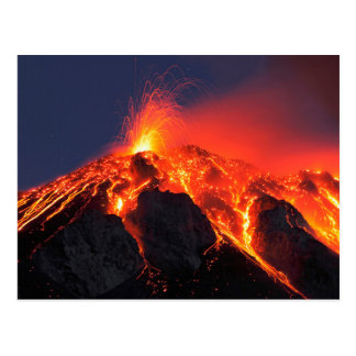 Erupción volcánica tarjeta postal
