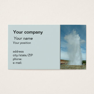 """Erupting geyser"" business card"