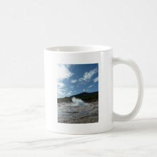 Erupting geyser in Iceland Coffee Mug