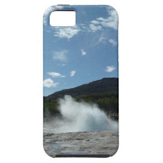 Erupting geyser in Iceland iPhone SE/5/5s Case