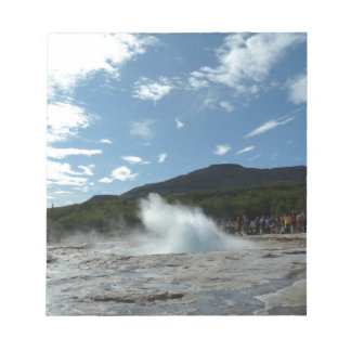 Erupting geyser in Iceland Notepad