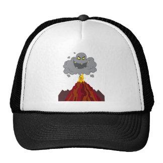 Erupting Of Volcano With Black A Black Cloud Trucker Hat