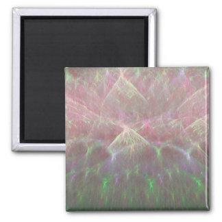 Erupting Sky of Electricity Fractal Art 2 Inch Square Magnet