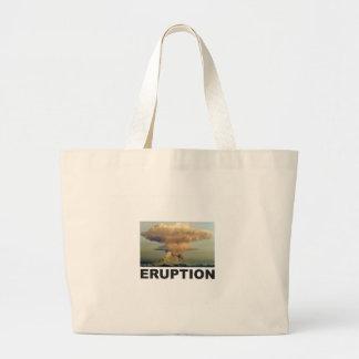 Eruption art large tote bag