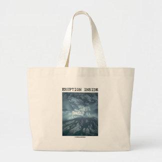 Eruption Inside (Mt. Saint Helens) Jumbo Tote Bag