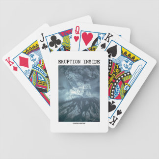 Eruption Inside (Mt. Saint Helens) Bicycle Playing Cards