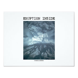 Eruption Inside (Mt. Saint Helens) Card