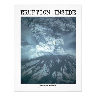 "Eruption Inside (Mt. Saint Helens) 8.5"" X 11"" Flyer"
