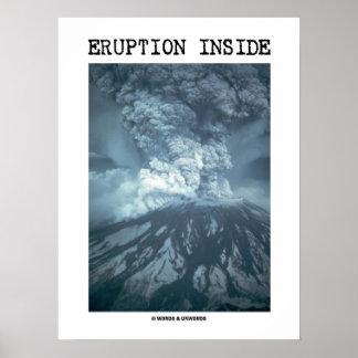 Eruption Inside (Mt. Saint Helens) Poster