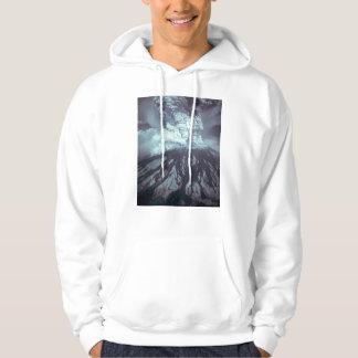 Eruption of Mount Saint Helens Stratovolcano 1980 Hooded Sweatshirt