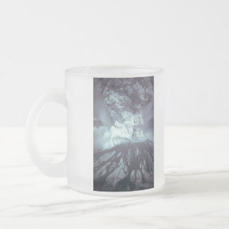 Eruption of Mount Saint Helens Stratovolcano 1980 10 Oz Frosted Glass Coffee Mug