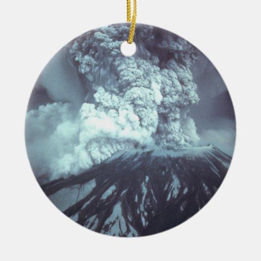 Eruption of Mount Saint Helens Stratovolcano 1980 Ornaments