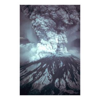 Eruption of Mount Saint Helens Stratovolcano 1980 Photo Art