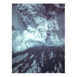 Eruption of Mount Saint Helens Stratovolcano 1980 Postcard