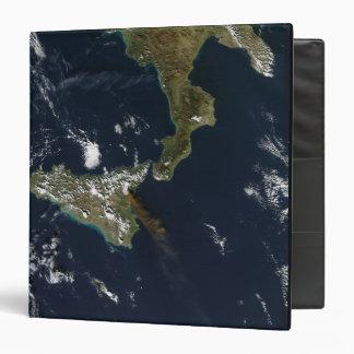 Eruption of Mt Etna in Sicily 3 Ring Binder
