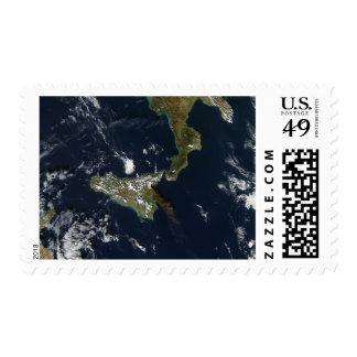 Eruption of Mt Etna in Sicily Postage Stamp