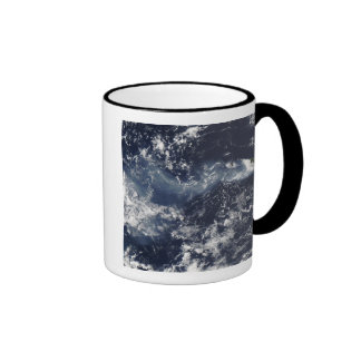 Eruption of Piton de la Fournaise, Reunion Isla Ringer Coffee Mug