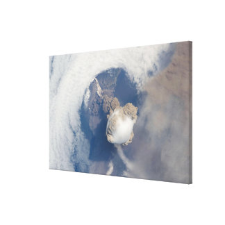 Eruption of Sarychev volcano 2 Canvas Print