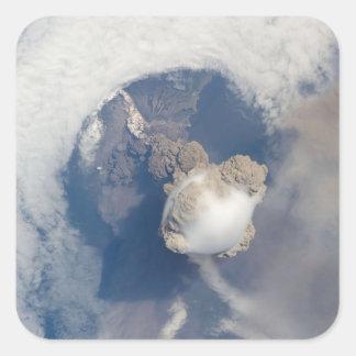 Eruption of Sarychev volcano 2 Square Sticker