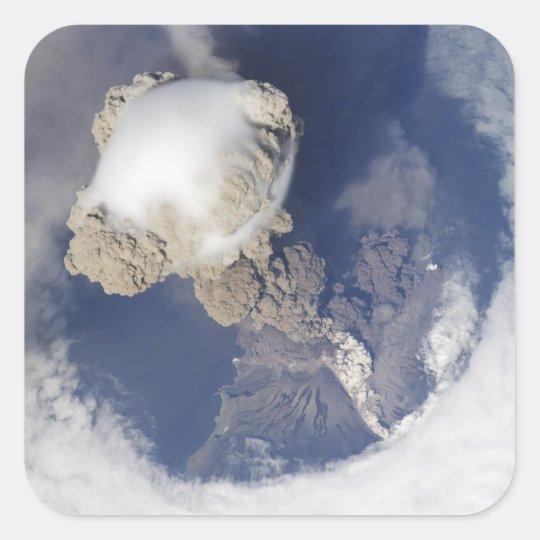 Eruption of Sarychev volcano Square Sticker