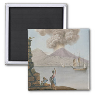 Eruption of Vesuvius, Monday 9th August 1779, plat 2 Inch Square Magnet