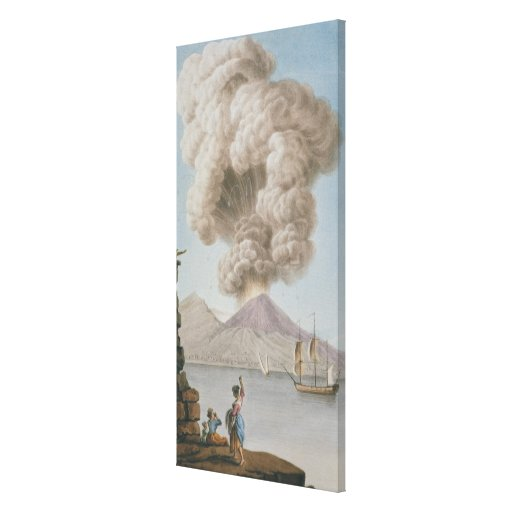 Eruption of Vesuvius, Monday 9th August 1779, plat Stretched Canvas Prints