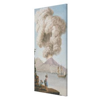 Eruption of Vesuvius, Monday 9th August 1779, plat Canvas Print