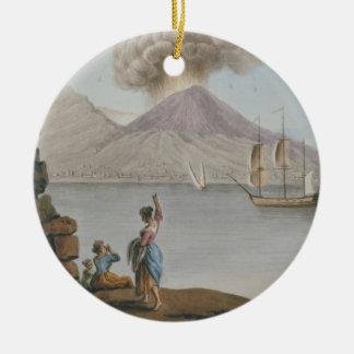 Eruption of Vesuvius, Monday 9th August 1779, plat Ceramic Ornament