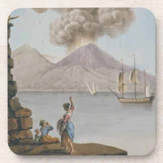 Eruption of Vesuvius, Monday 9th August 1779, plat Coaster