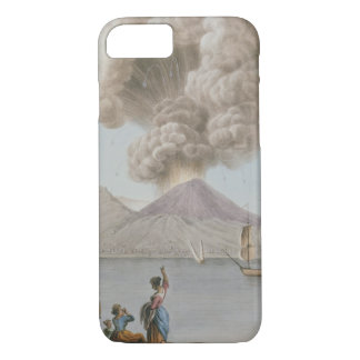 Eruption of Vesuvius, Monday 9th August 1779, plat iPhone 7 Case