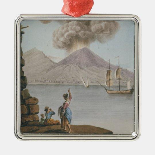 Eruption of Vesuvius, Monday 9th August 1779, plat Metal Ornament