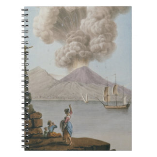 Eruption of Vesuvius, Monday 9th August 1779, plat Notebook