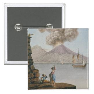 Eruption of Vesuvius, Monday 9th August 1779, plat Pinback Button
