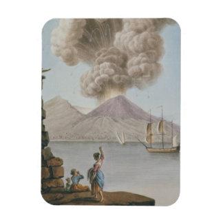 Eruption of Vesuvius, Monday 9th August 1779, plat Rectangular Photo Magnet